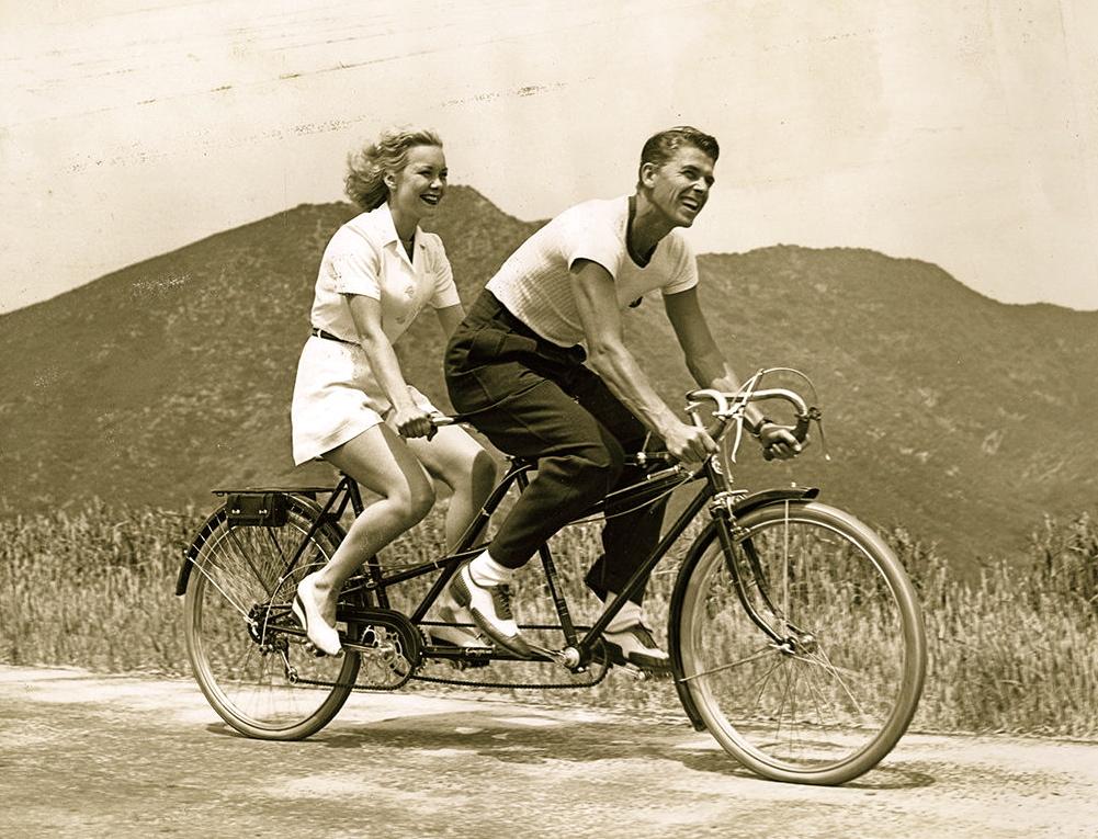 Ronald Reagan and Virginia Mayo 1952