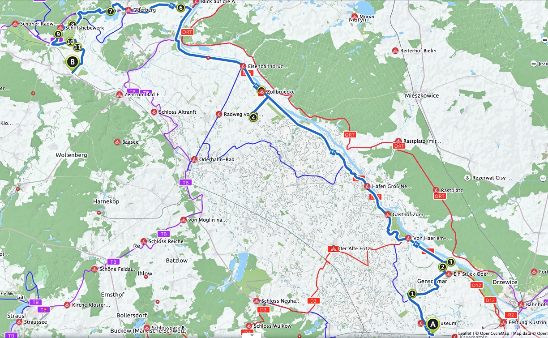 Route Golzow Falkenberg