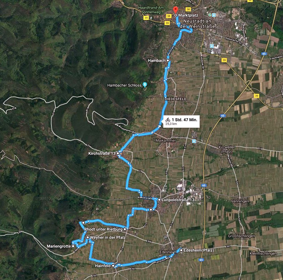 00 Route Edesheim Neustadt